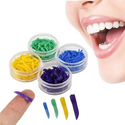 350X Dental Disposable Wedges Plastic 4 colour-coded interdental-Composit