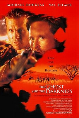 The Ghost And The Darkness (1996) Original Movie Poster  -  Rolled