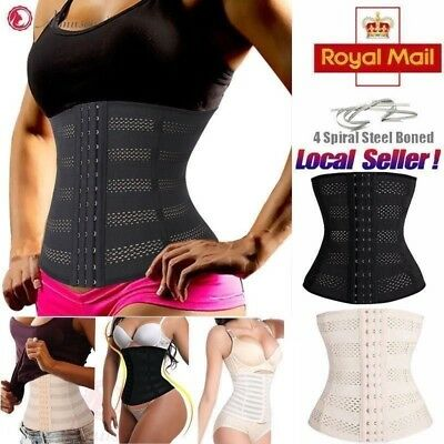 Lady Belly Band Corset Waist Trainer Corset Contral Slim Body Shaper Size XS-7XL