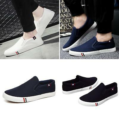 Summer Men's Canvas Breathable Slip On Sneakers Loafers Mens Casual Shoes Latest
