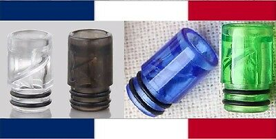 Drip Tip AIO Style - Spiral - Acrylic - Anti Spitback - Anti Projection - 510
