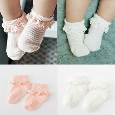 Tick Tock Baby Girls Boys Newborn Cotton Rich Frilly Lace Top Socks 0-4 Years