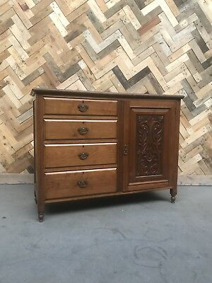 Edwardian Carved Sideboard