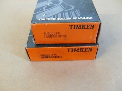 2x HM803149-HM803110 Tapered Roller Bearing QJZ Premium Free Shipping Cup /& Cone