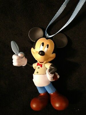 DISNEY MICKEY MOUSE Barber Christmas Ornament- hair stylist scissors and comb