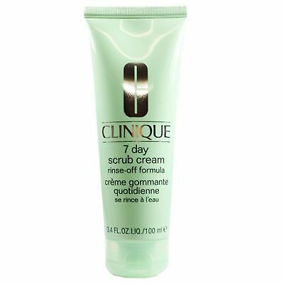 Clinique 7 Day Face Scrub Cream Rinse Off Formula Clearer & Brighter Skin 100ml