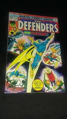 The Defenders #28 (1975) 1St Appearance Of Starhawk - Key Book - High Grade