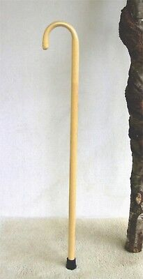 Walking Cane  Extra Strong  Natural Ash Hardwood  With Steam Bent Handle
