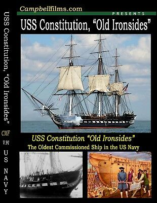 Old Ironsides USS Constitution Films War of 1812 + Tall Ships- Free Shipping USA