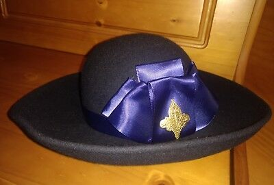 36abad6024b WOMENS SONNI OF San Francisco Blue Lancaster 100% Wool Felt Hat Usa ...