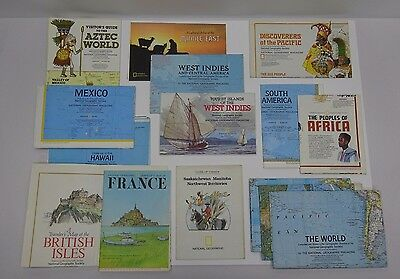 15 Vintage National Geographic Maps 1970-1981 World, Mexico, Hawaii, More!