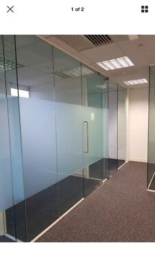 Glass Panel Office Dividers - Toughened Glass Wall Partitions