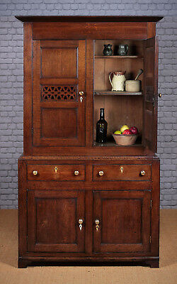 Antique Georgian Welsh Oak Kitchen Cupboard c.1810.