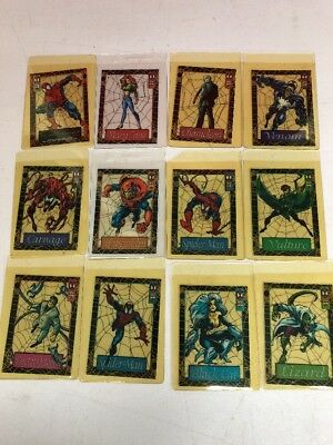 1994 Fleer Spiderman Suspended Animation Set of 12 Cards Complete Set w/sleeves