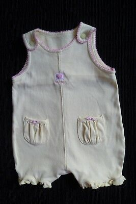 Baby clothes GIRL 0-3m NEXT soft cotton yellow/pink pockets romper SEE SHOP!