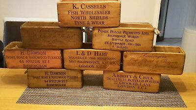 Vintage antiqued wooden box, crate,