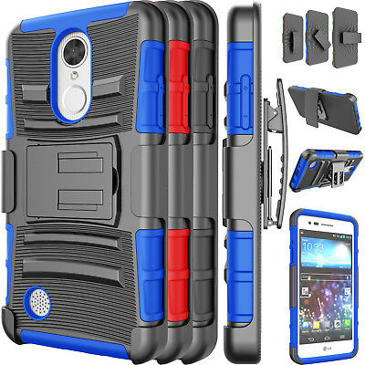 FOR LG REBEL 2 LTE/LG Risio 2 Phone Case Hybrid Belt Swivel Clip Kickstand  Cover