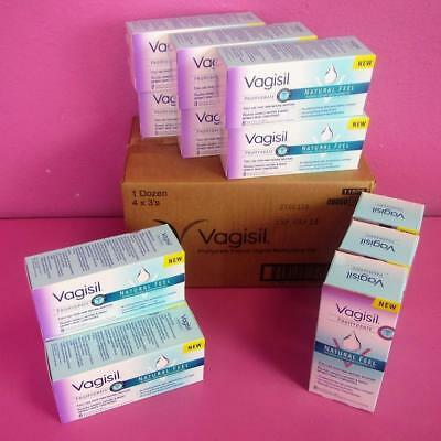 Vagisil ProHydrate Natural Feel Vaginal Moisturizer Gel 8 Applicators (12 boxes)
