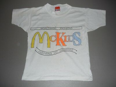 Vintage 80's McDonalds McKids T Shirt Youth Kids