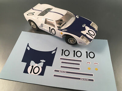 Stickers Pour Ford Gt40 #10 Lm64 Jouef 1/40 (No Decal Ideal Slot) Dcs006