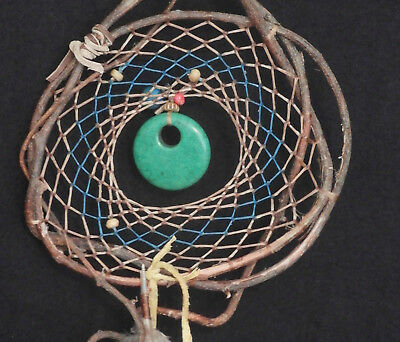 Dreamcatcher #1358 Turquoise Howlite Pendant-Native American, Tribal Earth Art
