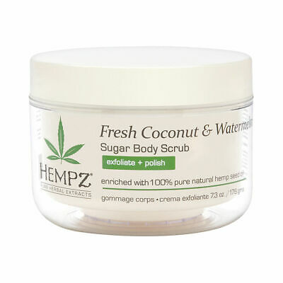 Hempz Fresh Coconut Watermelon Sugar Body Scrub 7.3 oz Brand New
