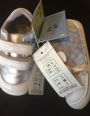BNWT M&S BABY GIRLS Toddler , Walkmates Shoes Size 4