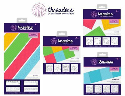 Threaders Quilting Stencils Crafters Companion Choice of: Borders Corners Shapes