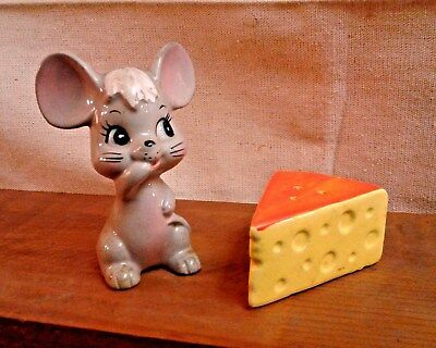 Japan Mouse and Swiss Cheese Salt and Pepper Shakers ENESCO Vintage