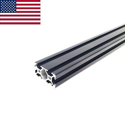 Black ZYLtech 2040 20mmx40mm T-Slot Aluminum Extrusion - 500mm CNC 3D Printer