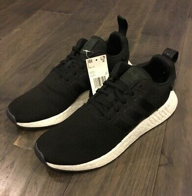 newest 902bb 92a43 ADIDAS NMD_R2 BOOST shoes sneakers new CQ2402 men's new black white trainers