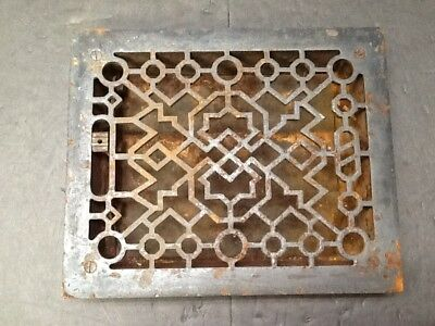 Architectural Salvage Vintage Cast Iron Heat Grate Register Vent