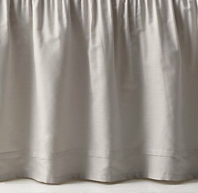 Restoration Hardware Gathered Voile Crib Skirt Mist Grey Baby Boy Girl