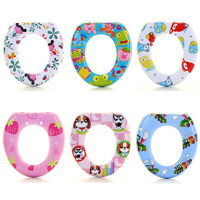 Kids Soft Padded Toilet Potty Training Seat Children Baby Seat Toddler Removable