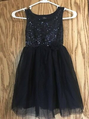 PreOwned- Girls Navy Blue Sparkle  Dress