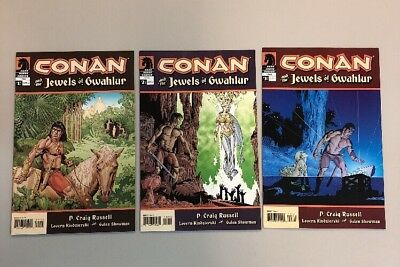 Conan And The Jewels Of Gwahlur 1-3 Complete Set Dark Horse Comics 2005