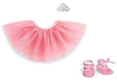 American Girl Truly Me Pretty Pink Tutu set With Tiara & Ballet Slippers