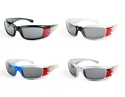 New Kids Boys Flame Pattern Sporty Sunglasses #P1153