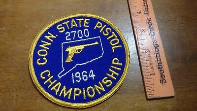 Connecticut State  Pistol Champ 1964 Connecticut State Police   Bx 10 #34