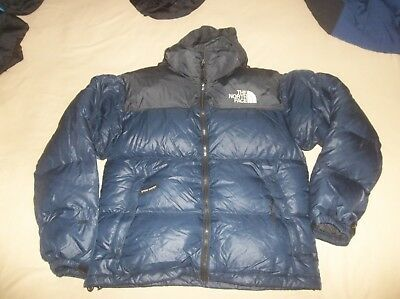 The North Face Nuptse 700 fp Goose Down Jacket Coat Puffer TNF Dark Blue  Vintage a77387773