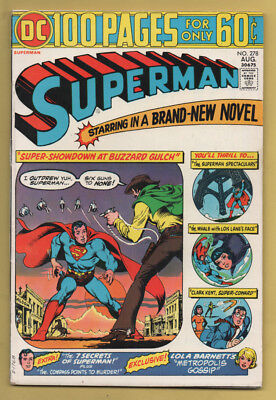 Superman #278 100 Pages! August 1974, DC, 1939 Series FN+