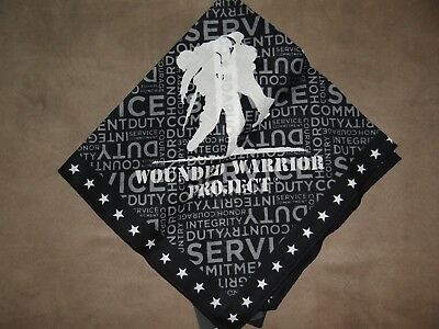 Harley-Davidson Black Wounded Warrior Project Bandana NEW IN BAG!