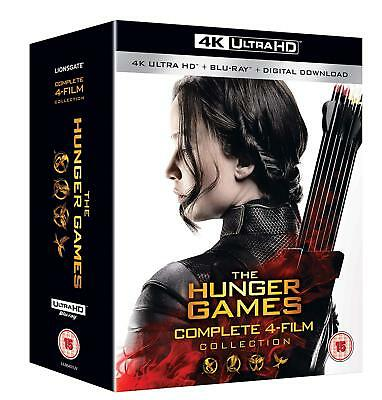 The Hunger Games Complete 4 Film Collection 4K Ultra HD UHD Blu-ray Boxset New