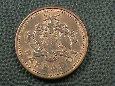 BARBADOS   1 Cent   1989   ,   $ 2.99  maximum  shipping  in  USA