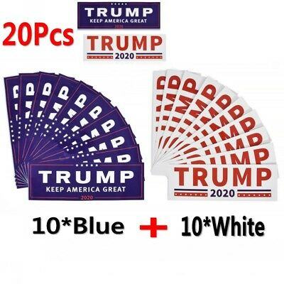 20x Donald Trump For President 2020 White Bumper Sticker Keep Make America Great