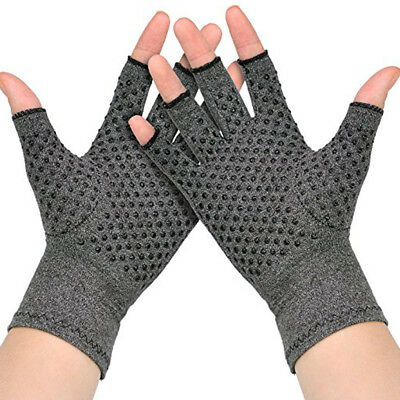 Strong Compression Gloves Hand Support Gloves Arthritis Antislip Pain Relief BM