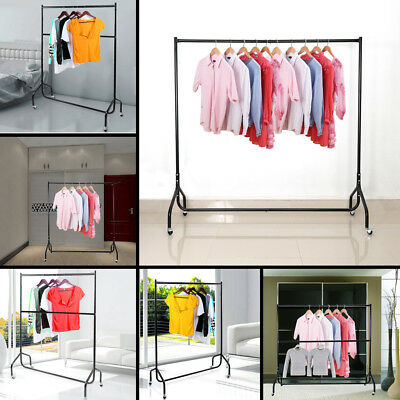 4ft 5ft 6ft Heavy Duty Garment Rail Clothes Rack Coat Display Stand Hanger Tools