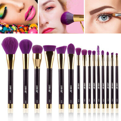 MAANGE 15 Pcs Makeup Brushes Set Powder Foundation Beauty Make Up Brush Set