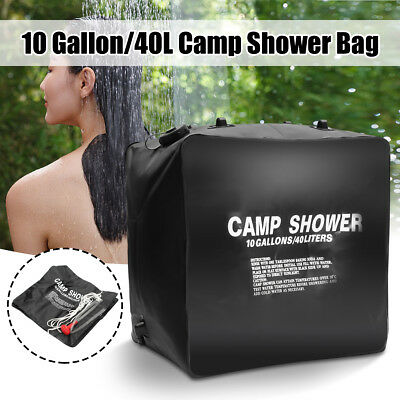 40L Hanging Leak Proof Solar Shower Bag Pipe Travel Outdoor Warm Water Camping