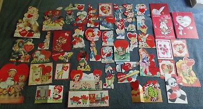 Big Lot of Vintage Valentines Day Cards 1950s?